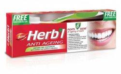 Зубная паста антивозрастная Dabur Herbal + зубная щетка в подарок!