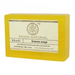 Натуральное мыло ручной работы Лимонное (Lemon soap), Khadi