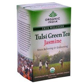 Лечебный аюрведический чай Tulsi Green Tea Jasmin, Organic India
