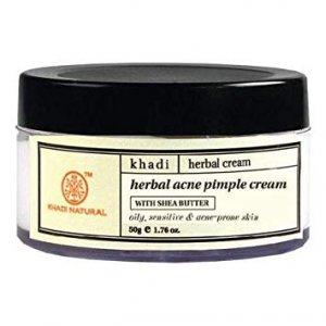 Травяной крем против акне и черных точек  (Herbal acne pimple cream), Khadi