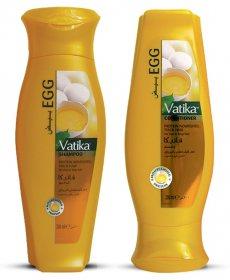 Шампунь и кондиционер с яичными протеинами для тонких волос, Vatika Dabur