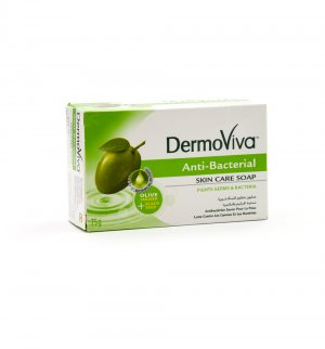 Антибактериальное мыло с оливкой и рукколой (DermoViva Anti-Bacterial Skin Care Soap), Dabur