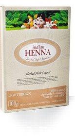 Краска для волос на основе хны Indian Henna, Светло-коричневая