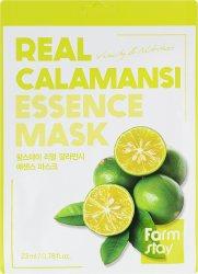 Витаминная маска для лица с экстрактом каламанси (Real Calamansi Essence Mask), Farmstay