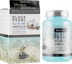 Ампульная сыворотка с экстрактом черного жемчуга (Black Pearl All-in-one Ampoule), Farmstay