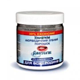 Аюрведический зубной порошок для всей семьи Дентогин, Triuga Herbal