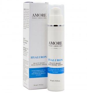 Концентрированная сыворотка с гиалуроновой кислотой для интенсивного увлажнения кожи, AMORE