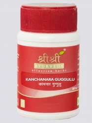 Канчнар гуггул (Kanchnar Guggul) 500 мг, Sri Sri Ayurveda
