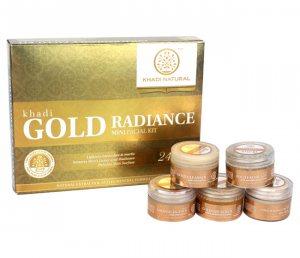Подарочный набор для лица 5 в 1 GOLD RADIANCE, Khadi