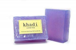 Натуральное мыло ручной работы Лавандовое (Pure lavender soap), Khadi