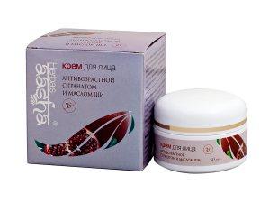Антивозрастной крем для лица с гранатом и маслом ши, Aasha Herbals
