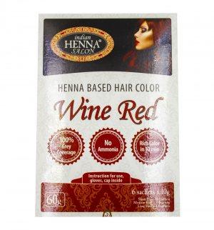 Краска для волос Красное Вино (Henna Based Hair Colour Wine Red), Indian Henna Salon