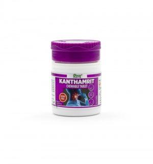Жевательные таблетки от кашля Кантамрит (Kanthamrit chewable tablet), Patanjali
