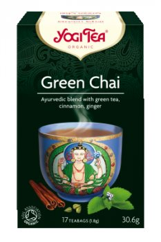 Аюрведический йога чай Зеленый чай (Green Chai), Yogi tea
