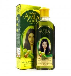 Масло для волос с хной и миндалем, Dabur Amla