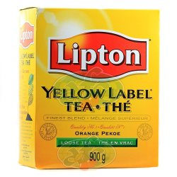 Чай липтон Оранж Пеко (Yellow Label Orange Pekoe), Lipton