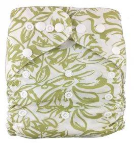 Подгузник многоразовый Серые цветы, StylishBaby