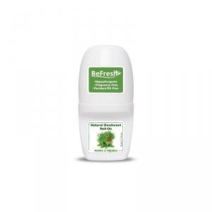 Мужской роликовый дезодорант для тела с мятой и травами, BeFresh
