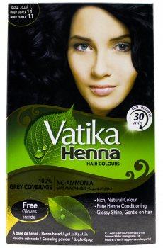 Краска для волос на основе хны Vatika, Deep Black Глубокий Черный