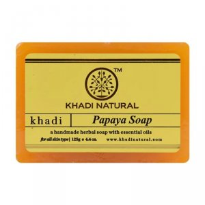 Аюрведическое мыло ручной работы Папайя (Papaya soap), Khadi