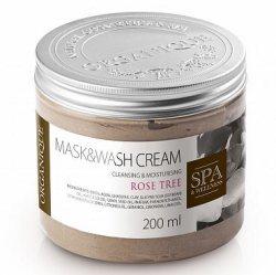 Маска для тела с глиной гассул Розовое дерево,  Mask&Wash Cream, Organique