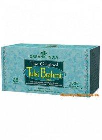 Лечебный аюрведический чай Tulsi Brami, Organic India