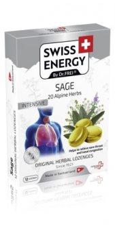 Леденцы для горла с экстрактом шалфея и альпийских трав (Alpine Herbs), Swiss Energy