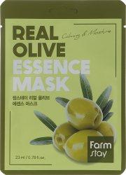 Увлажняющая тканевая маска для лица с экстрактом оливы (Real Olive Essence Mask), Farmstay
