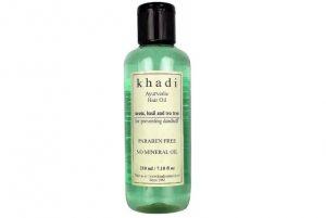 Аюрведическое масло для волос Ним, Базилик и Чайное дерево, Khadi