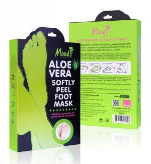Маска-пилинг для ног с экстрактом Алое (Aloe Softly Peel Foot Mask), Moods