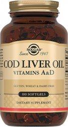 Жир печени норвежской трески (Cod Liver Oil Vitamins A&D), Solgar