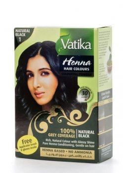 Краска для волос на основе хны Vatika, Натуральная черная