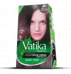 Крем-краска для волос с касторовым маслом Vatika Naturals, Коричневый