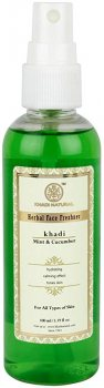 Освежающий спрей-тоник для лица Огурец и Мята (Mint & Cucumber Herbal Face Freshner), Khadi