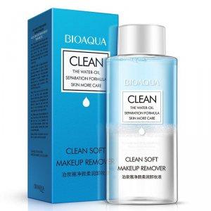Двухфазное cмягчающее средство для снятия макияжа (Clean soft Oilve Essence Makeup Remover) Bioaqua
