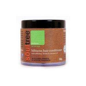 Органический кондиционер для волос с гибискусом, хной и кокосовым маслом, Soultree