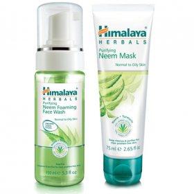 Пенка для умывания и Антибактериальная маска с нимом, Himalaya Herbals