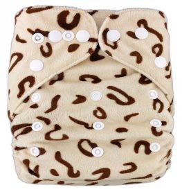 Подгузник многоразовый велюровый Леопард, StylishBaby