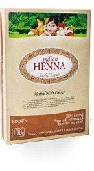 Краска для волос на основе хны Коричневая (Brown), Indian Henna