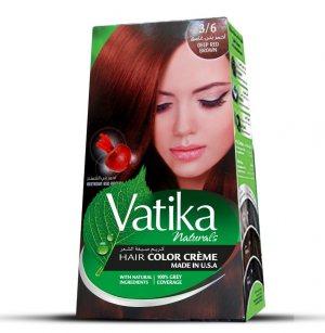 Крем-краска для волос с экстрактом свеклы Vatika Naturals, Глубокий красно-коричневый