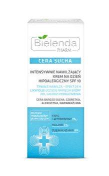 Интенсивно увлажняющий дневной крем для сухой кожи лица Pharm, Bielenda