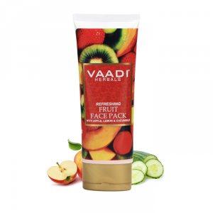 Фруктовая маска с яблоком, лимоном и огурцом, Vaadi Herbals