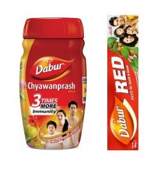Чаванпраш и зубная паста Red Dabur