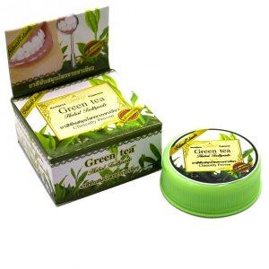 Тайская зубная паста-таблетка с зеленым чаем и травами (Green Tea), Rochjana