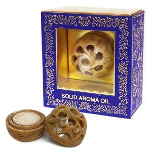 Натуральные сухие духи в каменной шкатулке Vanilla, Song of India