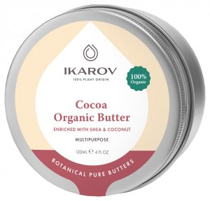 Органическое масло какао с Ши и Кокосом (Cocoa Organic Butter Enriched with Shea & Coconut Oil), Ikarov