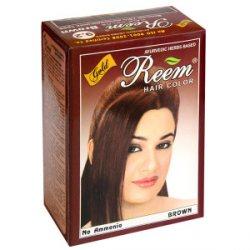 Натуральная краска для волос REEM GOLD, коричневая