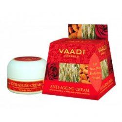 Антивозрастной крем для лица Миндаль, Пшеница, Роза, Vaadi Herbals