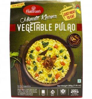 Готовое блюдо Овощной пулао (Vegetable pulao minute khana), Haldiram's