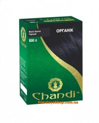 Травяная краска для волос Chandi Organic, Черная